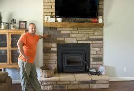 wood stove vented gas log stove