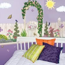 Beautiful Flower Garden Mural For Little Girls Room