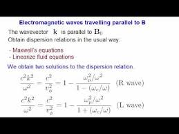 electromagnetic waves in a plasma