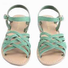 Emile et ida-Green braids girl sandals