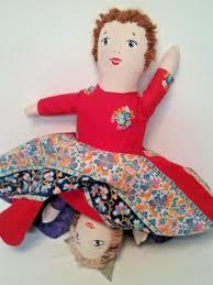 vine homemade topsy turvy doll red
