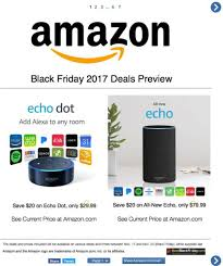 amazon released its black friday deals