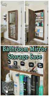 bathroom mirror storage