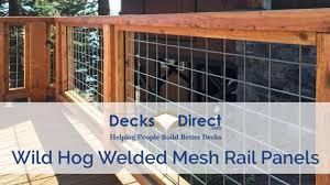 Welded Mesh Level Rail Panels By Wild Hog Railing Youtube