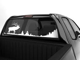 Rear Window Decal Hunt Elk Scenery Hunting Decal Rear Window Decals Truck Decals