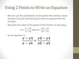 6 5 slope point form of the equation