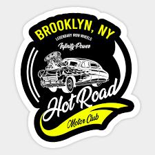 Brooklyn Ny Retro Car Sticker Teepublic Au