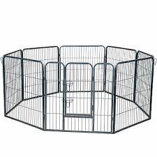 Dog Pet Playpen Heavy Duty Metal Exercise Fence Folding Kennel 8 Panel 32 Ebay