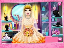 barbie princess wedding dressup and