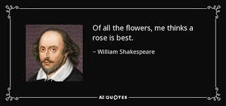 william shakespeare quote of all the flowers me thinks a rose is