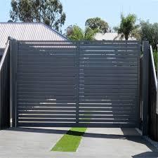 Aluminum Slat Fence Sliding Door Metal Door Security Fencing Metal Gate Aluminium Swing Door China Sliding Gate Metal Gate Made In China Com