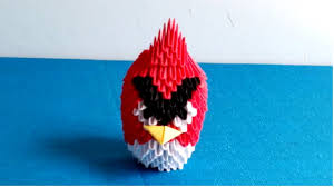How to make an angry bird by 3d origami - Hướng dẫn xếp con chim ...