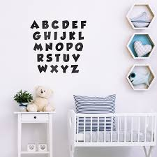 Set Of Abc S Alphabet Letters Educational Vinyl Wall Art Stickers Imprinted Designs