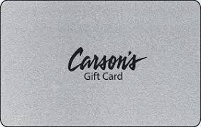 gift card gift card silver carsons