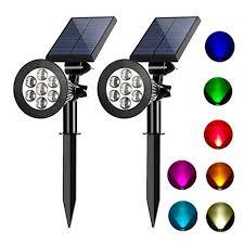 led multi color solar garden lights
