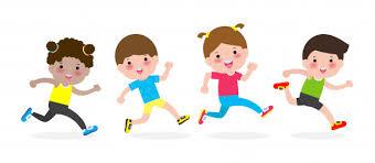 Vecteur Premium | Enfants Heureux Jogging Pour Une Bonne Santé. Enfants De  Personnage De Dessin Animé En Cours D'exécution Illustration Isolé Sur  Blanc.