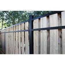 2 In X 3 In X 8 Ft Black Aluminum Fence Rail 2 Stringers And 4 Brackets Kit 628549400015 Ebay