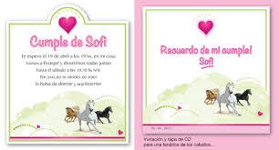 Invitaciones Infantiles De Caballitos Imagui