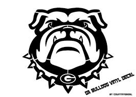 Uga Bulldog Vinyl Decal Georgia Bulldogs Bulldog Wallpaper Bulldog Mascot