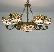 chandelier stained glass baroque