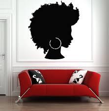 Beautiful African Girl Wall Decal African Woman Wall Sticker Etsy Girls Wall Decals Salon Wall Art Girls Wall Art