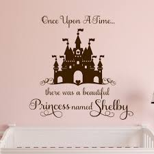 Custom Girl Wall Decal Once Upon A Time Princess Castle Girls Wall Decals Disney Wall Decals Vinyl Wall Lettering