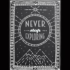 Never Stop Exploring Poster Wall Words Decal Print4one