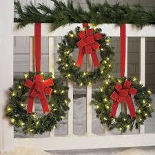 Set Of 3 Cordless Pre Lit Mini Christmas Wreaths Christmas Wreaths With Lights Christmas Wreaths Outdoor Christmas Decorations