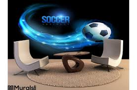 Soccer Ball Wall Mural 3d Australia Stadium Design Wallpaper Buy Vamosrayos