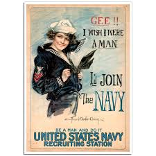 US Navy Girl, [Bernice Smith] | WW1 Recruitment Poster | Just Posters