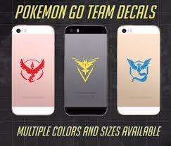 Pokemon Go Vinyl Decal Sticker Team Instinct Valor Phone Window Laptop Mystic