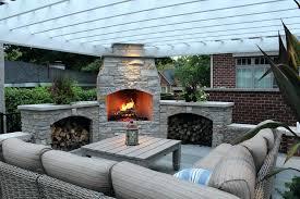 fireplace patio backyard ideas outdoor