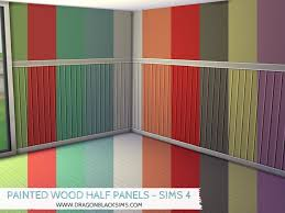 painted wood half walls sims 4 walls