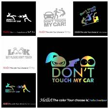 Big Discount 3e3a2 Creative Don T Touch Car Decal Funny Sticker On Car Stickers And Decals Rear Window Vinyl Car Styling Cicig Co