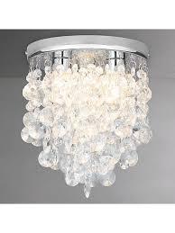 crystal bathroom flush ceiling light