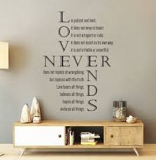 Vinyl Wall Decal 1 Corinthians 13 4 8 Love Is Etsy