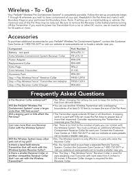 Wireless To Go Accessories Frequently Asked Questions Petsafe Wireless Pet Containment System Pif 300 User Manual Page 16 24 Original Mode