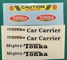 Custom Replacement Decals For 73 75 3990 3991 Mighty Car Carrier Tonka Truck Ebay
