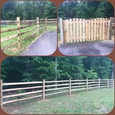 Massey Fence 4 Rail Split Rail Wood Fence With Black Wire Mesh