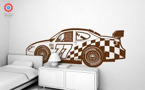 Racing Car Xxl Wall Decal Nursery Kids Rooms Wall Decals Boy Room Wall Stickers Car Wall Decals And Wall Decors