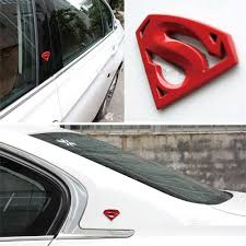 3d 3m Chrome Emblem Auto Logo Superman Badge Metal Motorcycle Accessories Car Styling Funny Car Stickers Carccessories