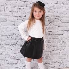 msgm kids girls skirt black