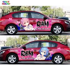 Tailor Made Japanese Anime Characters Ram Rem Car Door Stickers Different World Funny Racing Car Decal Camouflage Vinyl Film Aliexpress