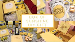 box of sunshine diy gift care package