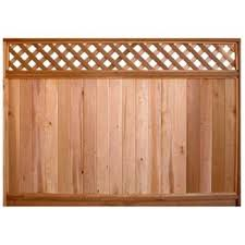 Taiga Building Products 6 Ft X 8 Ft Cedar Fence Panel With Diagonal Lattice Top Lowe S Canada