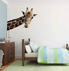 Full Colour Giraffe Novelty Quirky Wall Sticker Decal Kids D Cor Home Accessories Wall Decorations