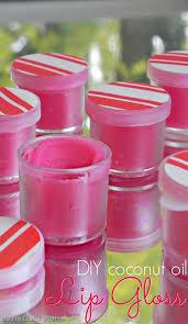 simple coconut oil lip gloss