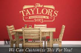 Personalized Family Name Year And Location The Taylors Retro Vintage Sign Wall Decor Vinyl Decal Letteing 2452