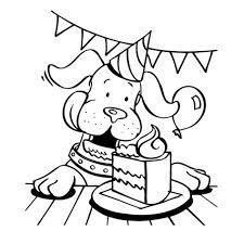 Gefeliciteerd Hondje Kleurplaten Dieren Kleurplaten En Honden