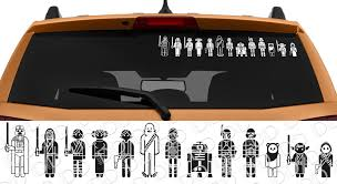 Buy 13in1 Family Skywalker Darth Leia Rebel Galactic Empire Jedi R2 D2 Car Laptop Vinyl Sticker Decal